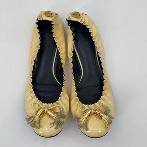 Tory Burch Reese Tassel Ballet Flats